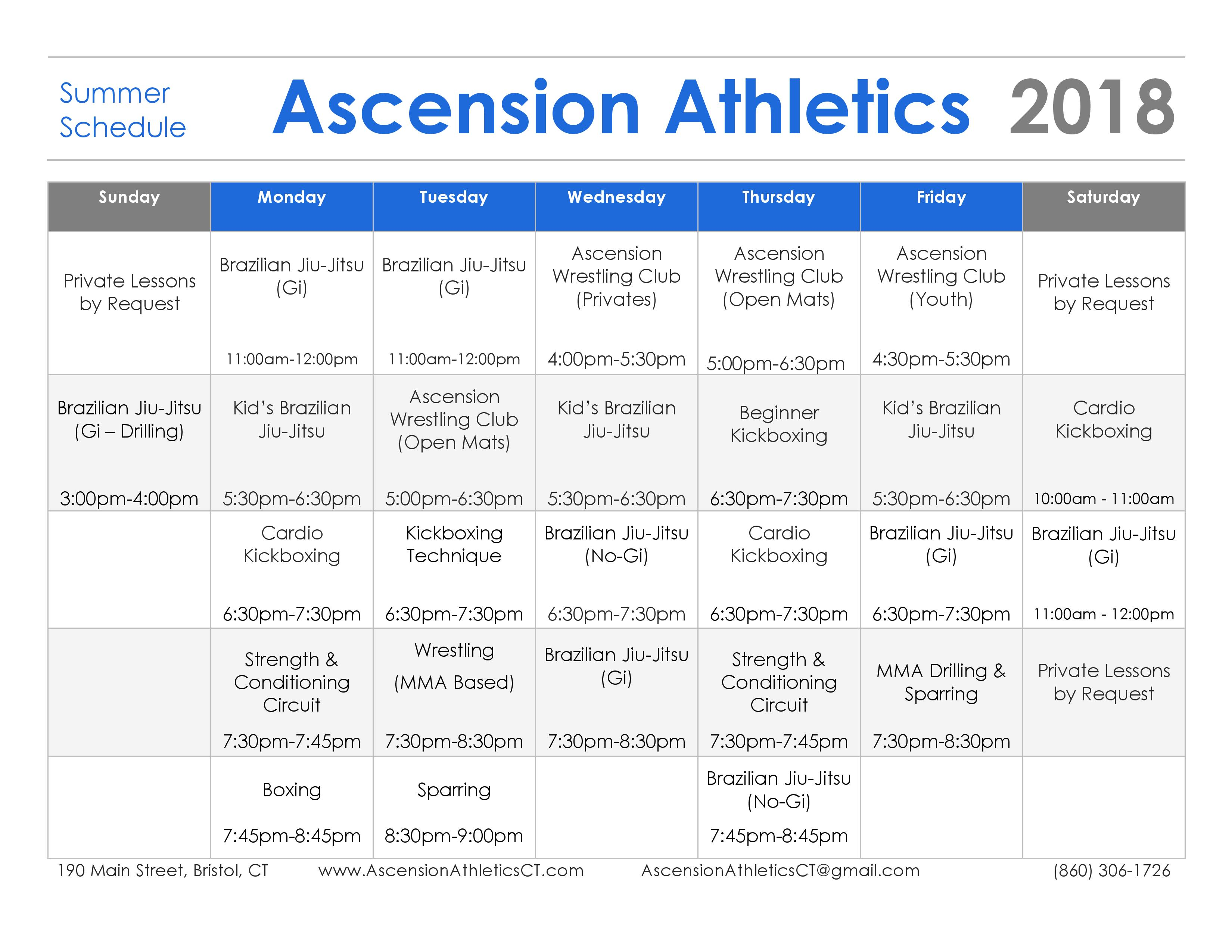 Ascension Schedule - Summer Schedule-page-001